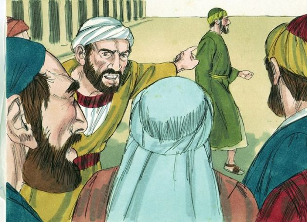 """Act 21:28  crying out, """"Men of Israel, help! This is the man who is teaching everyone everywhere against the people and the law and this place. Moreover, he even brought Greeks into the temple and has defiled this holy place."""""""