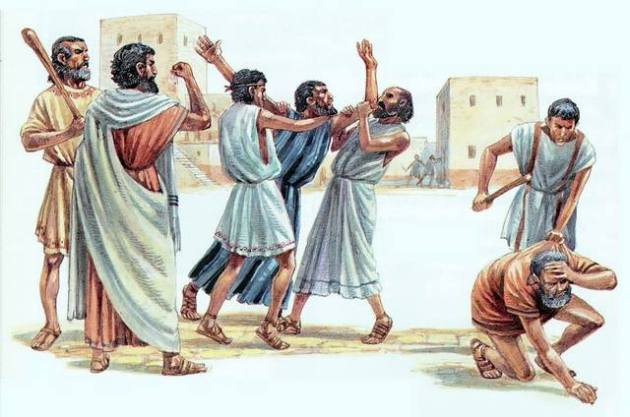 Act 21:30-31 ESV  Then all the city was stirred up, and the people ran together. They seized Paul and dragged him out of the temple, and at once the gates were shut.  (31)  And as they were seeking to kill him, word came to the tribune of the cohort that all Jerusalem was in confusion.