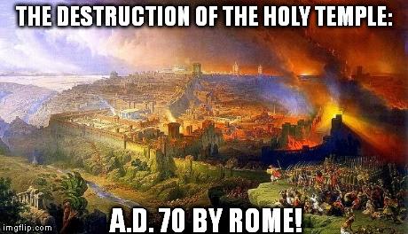 holy temple destruction by rome
