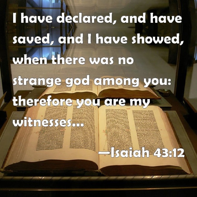 ISAIAH 43 12 2