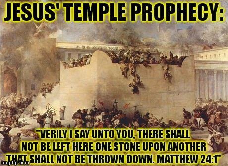 jesus temple prophecy