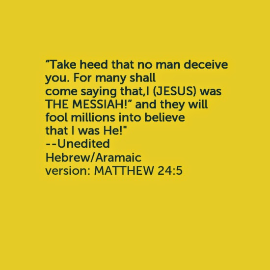 matthew 24 5 re written