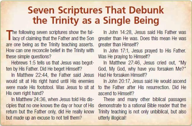 Seven Scripture That Debunk Trinity