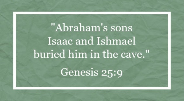 Isaac-and-Ishmael bury their father together