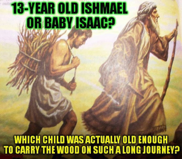 who carried the wood Ishmael or Isaac resized