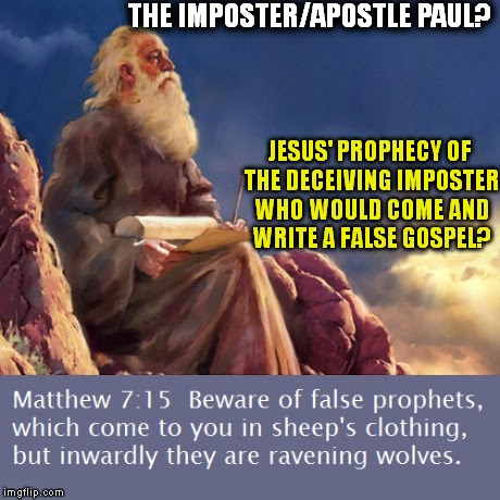 Imposter Paul prophecy